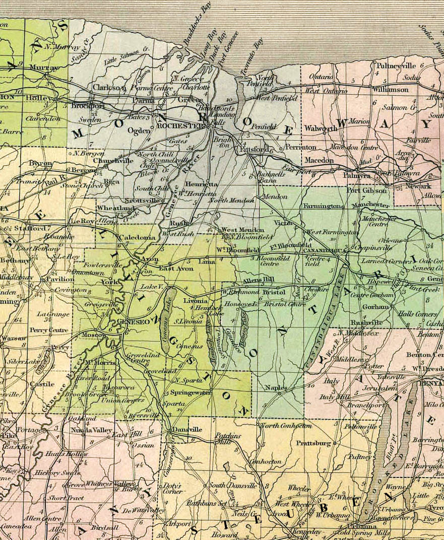 Joseph Smith Home Page Maps - New york map rochester